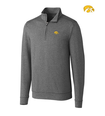 University of Iowa DryTec Stretch Jersey Half-Zip Pullover