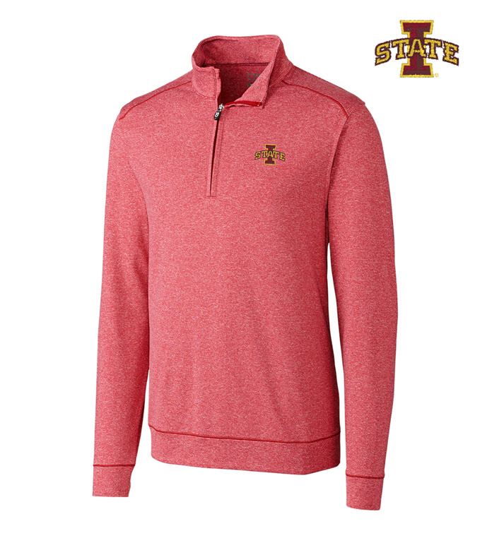 Cutter & Buck Iowa State University DryTec Stretch Jersey Half-Zip Pullover