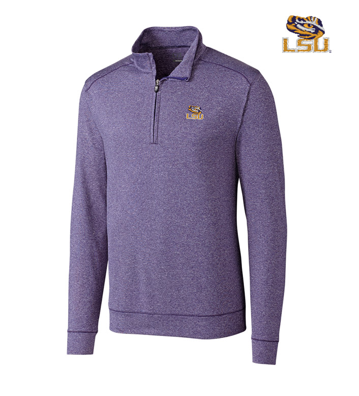 Cutter & Buck Louisiana State University DryTec Stretch Jersey Half-Zip Pullover