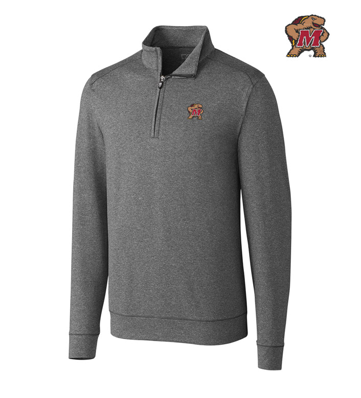 Cutter & Buck University of Maryland DryTec Stretch Jersey Half-Zip Pullover