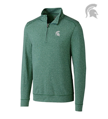 Michigan State University DryTec Stretch Jersey Half-Zip Pullover
