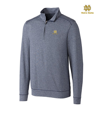 University of Notre Dame DryTec Stretch Jersey Half-Zip Pullover
