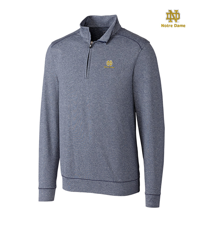 Cutter & Buck University of Notre Dame DryTec Stretch Jersey Half-Zip Pullover