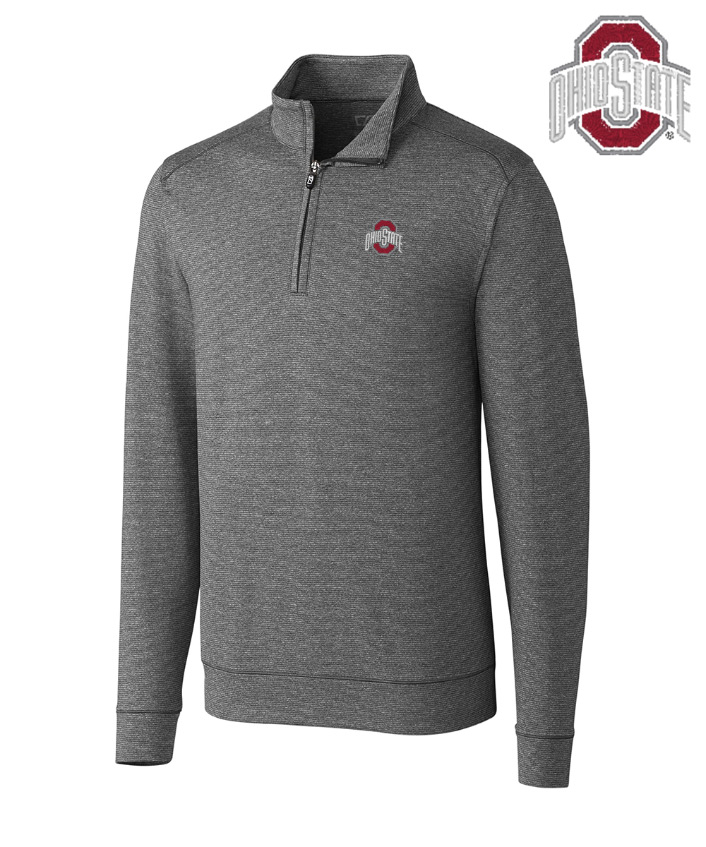Cutter & Buck The Ohio State University DryTec Stretch Jersey Half-Zip Pullover