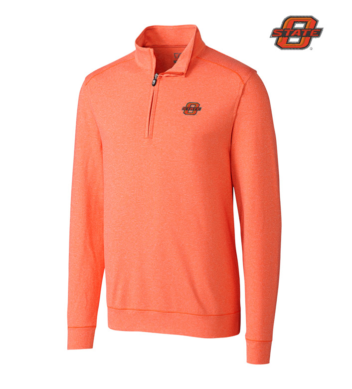 Cutter & Buck Oklahoma State DryTec Stretch Jersey Half-Zip Pullover