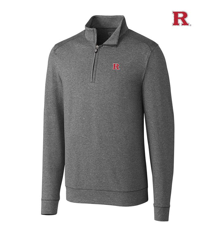 Cutter & Buck Rutgers University  DryTec Stretch Jersey Half-Zip Pullover