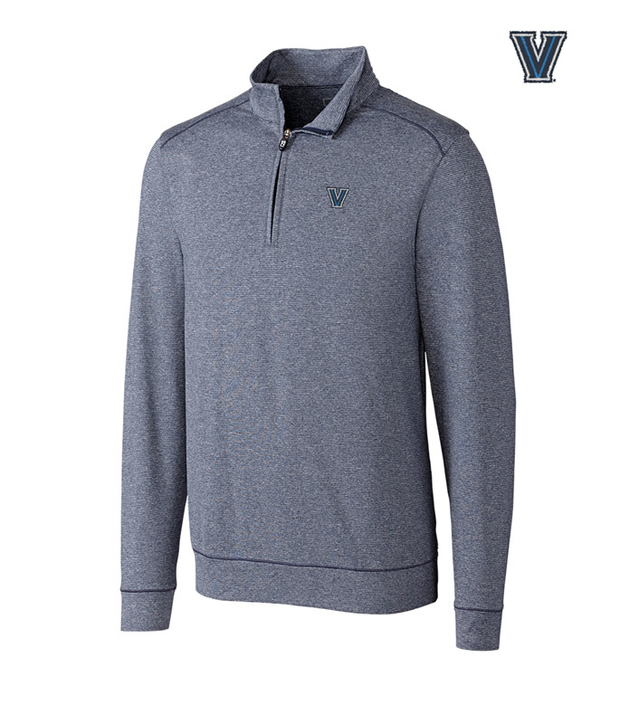 Cutter & Buck Villanova University DryTec Stretch Jersey Half-Zip Pullover