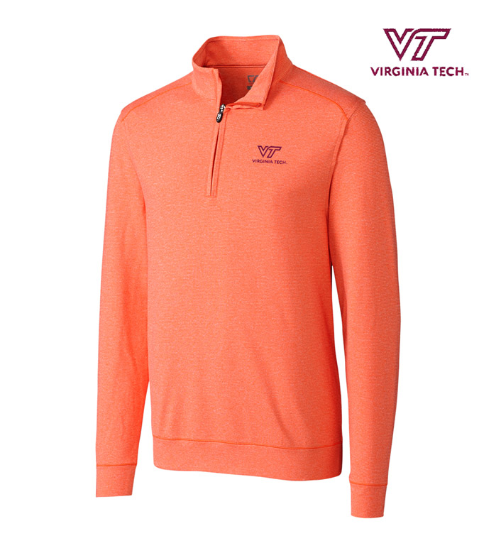 Cutter & Buck Virginia Tech DryTec Stretch Jersey Half-Zip Pullover