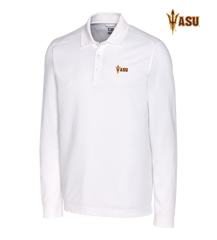 Cutter & Buck Arizona State University Cotton+ Advantage Long Sleeve Polo