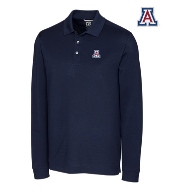 University of Arizona Cotton+ Advantage Long Sleeve Polo