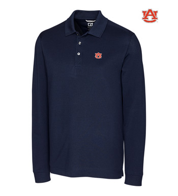 Auburn University Cotton+ Advantage Long Sleeve Polo
