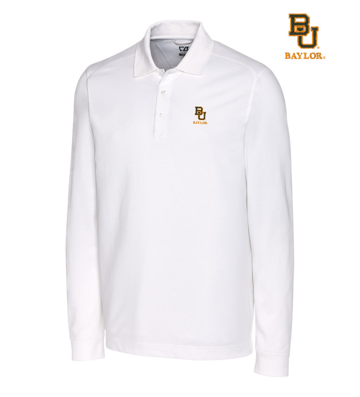 Cutter & Buck Baylor University Cotton+ Advantage Long Sleeve Polo