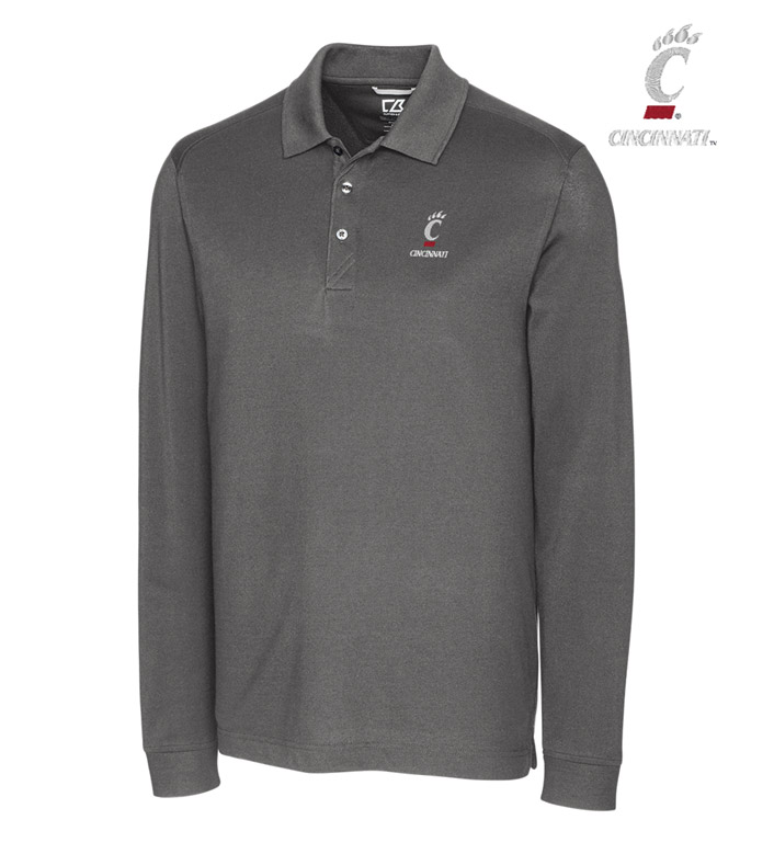 Cutter & Buck University of Cincinnati Cotton+ Advantage Long Sleeve Polo