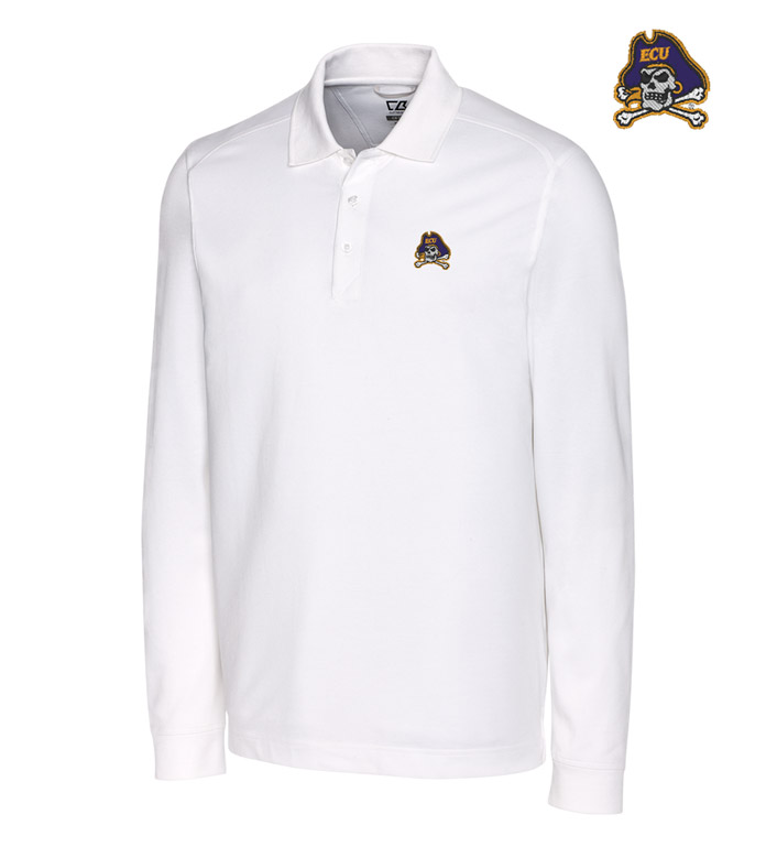 Cutter & Buck East Carolina University Cotton+ Advantage Long Sleeve Polo