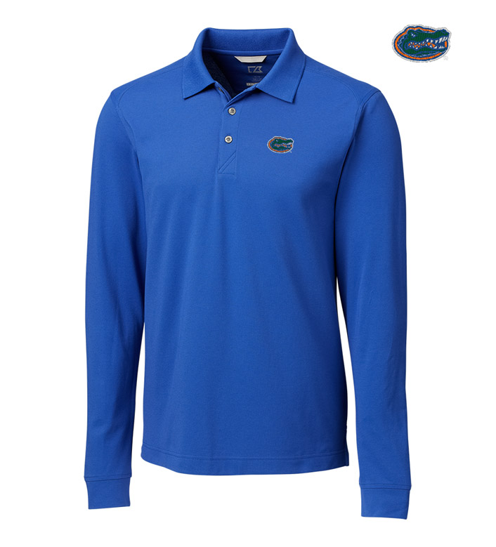Cutter & Buck University of Florida Cotton+ Advantage Long Sleeve Polo