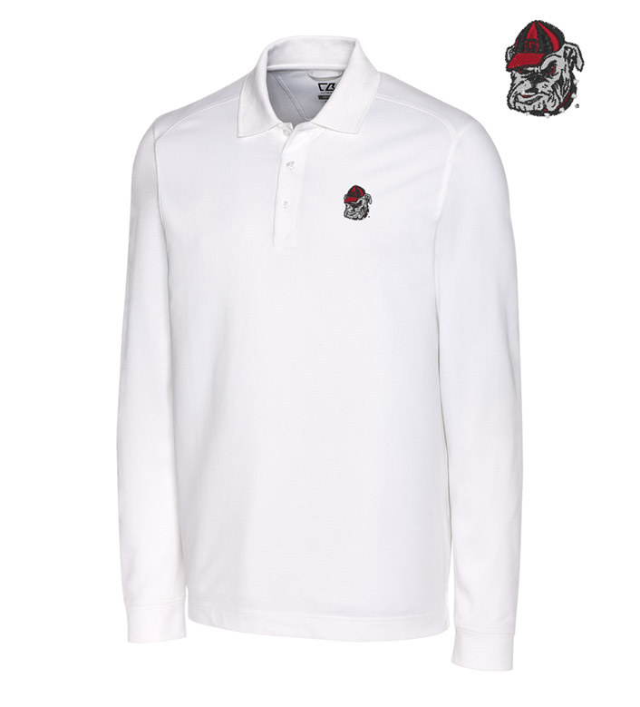Cutter & Buck University of Georgia Cotton+ Advantage Long Sleeve Polo