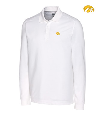 University of Iowa Cotton+ Advantage Long Sleeve Polo