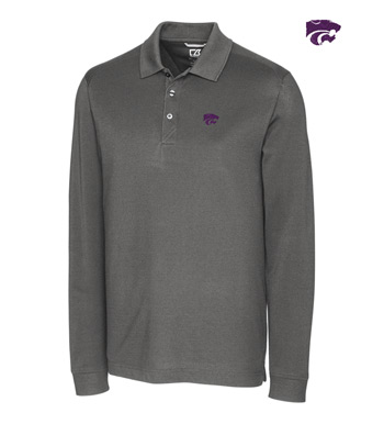 Kansas State University Cotton+ Advantage Long Sleeve Polo