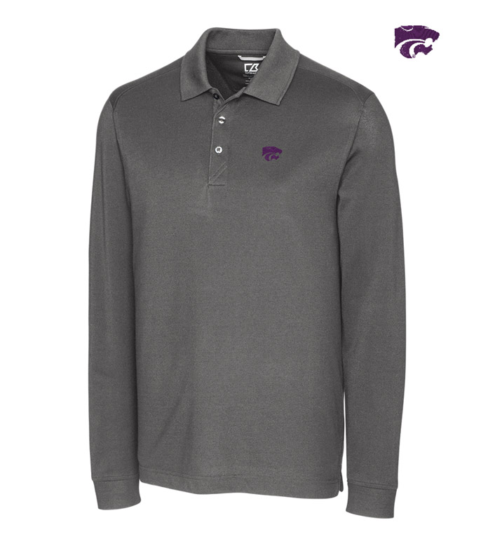 Cutter & Buck Kansas State University Cotton+ Advantage Long Sleeve Polo