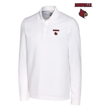 University of Louisville Cotton+ Advantage Long Sleeve Polo