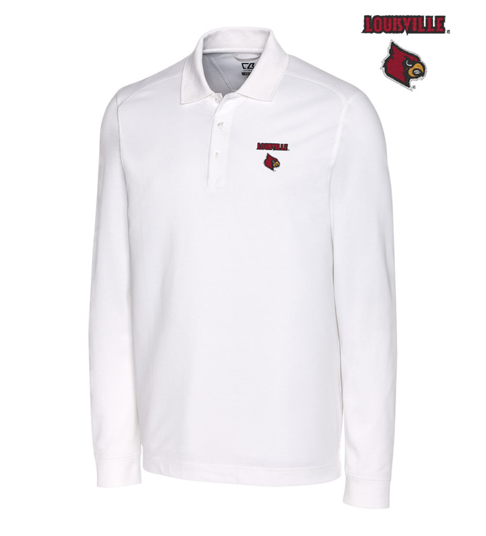 Cutter & Buck University of Louisville Cotton+ Advantage Long Sleeve Polo