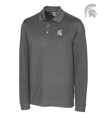 Michigan State University Cotton+ Advantage Long Sleeve Polo