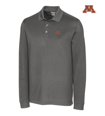 University of Minnesota Cotton+ Advantage Long Sleeve Polo