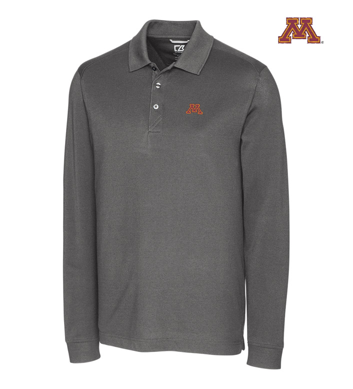 Cutter & Buck University of Minnesota Cotton+ Advantage Long Sleeve Polo