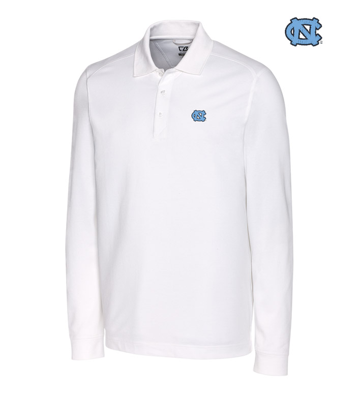 Cutter & Buck University of North Carolina Cotton+ Advantage Long Sleeve Polo