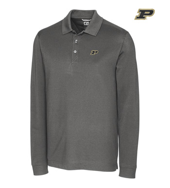Purdue University Cotton+ Advantage Long Sleeve Polo