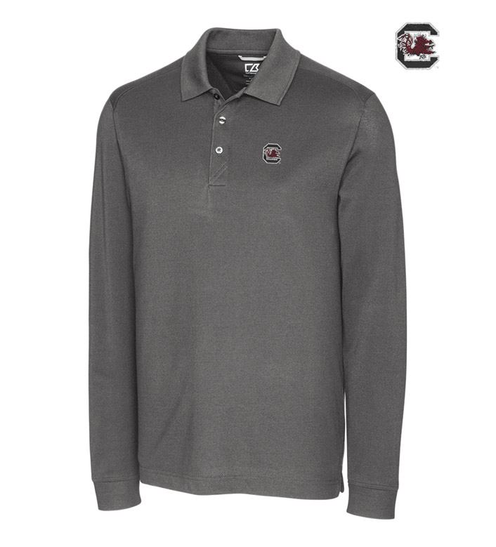 Cutter & Buck University of South Carolina Cotton+ Advantage Long Sleeve Polo