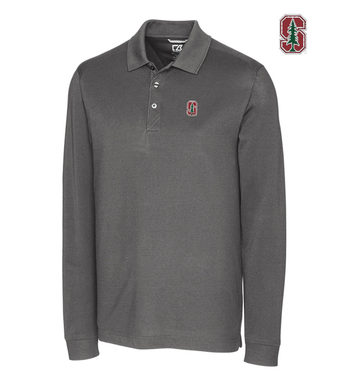 Cutter & Buck Stanford University Cotton+ Advantage Long Sleeve Polo