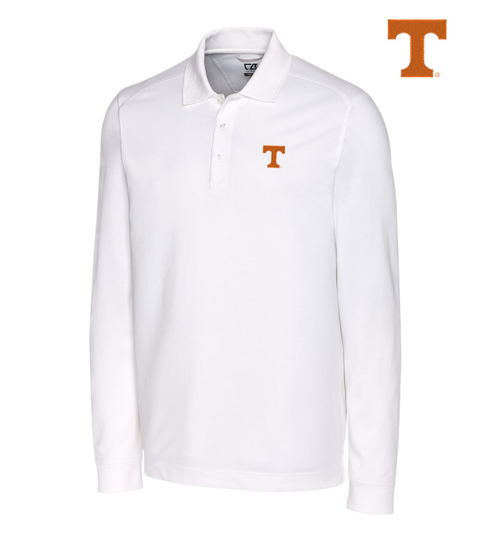 Cutter & Buck University of Tennessee Cotton+ Advantage Long Sleeve Polo