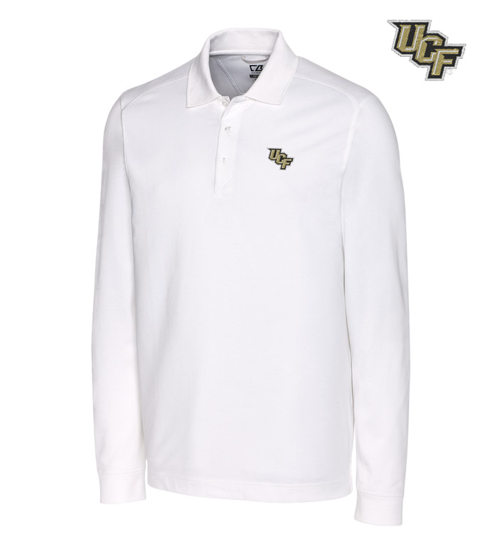 Cutter & Buck University of Central Florida Cotton+ Advantage Long Sleeve Polo