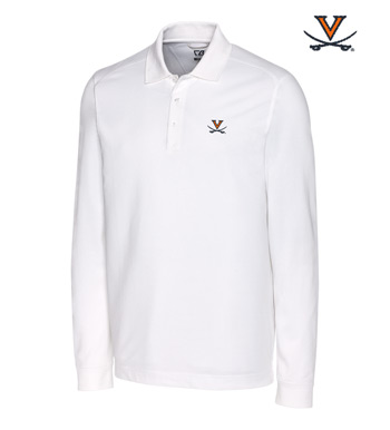 University of Virginia Cotton+ Advantage Long Sleeve Polo