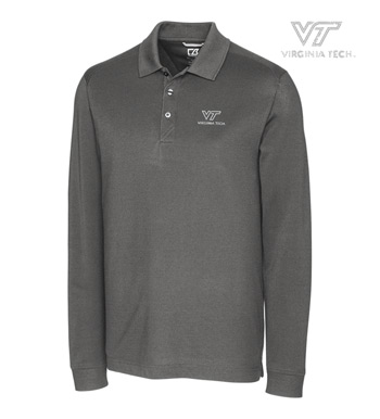 Virginia Tech Cotton+ Advantage Long Sleeve Polo