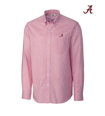 University of Alabama Tattersall Long Sleeve Sport Shirt