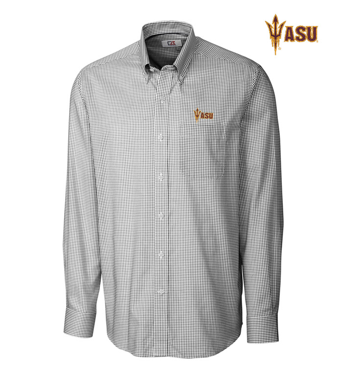Cutter & Buck Arizona State University Tattersall Long Sleeve Sport Shirt