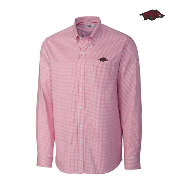University of Arkansas Tattersall Long Sleeve Sport Shirt