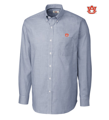Auburn University Tattersall Long Sleeve Sport Shirt