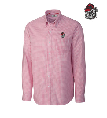 University of Georgia Tattersall Long Sleeve Sport Shirt