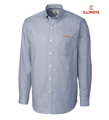 University of Illinois Tattersall Long Sleeve Sport Shirt