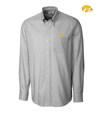 University of Iowa Tattersall Long Sleeve Sport Shirt