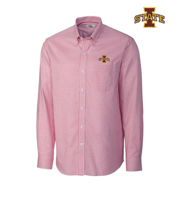 Iowa State University Tattersall Long Sleeve Sport Shirt