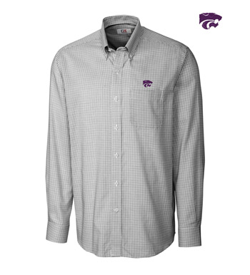 Kansas State University Tattersall Long Sleeve Sport Shirt