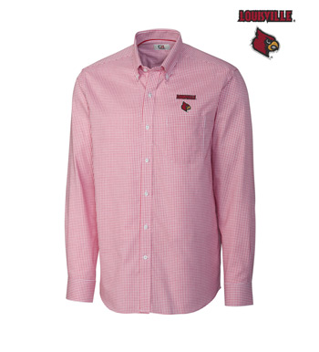 University of Louisville Tattersall Long Sleeve Sport Shirt