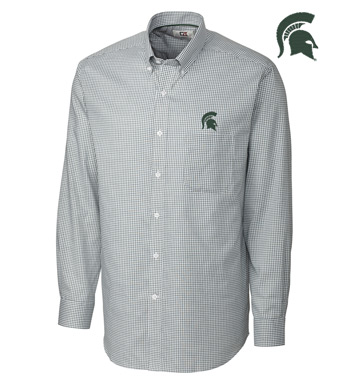 Michigan State University Tattersall Long Sleeve Sport Shirt