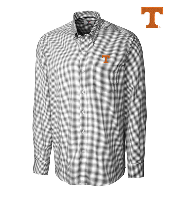 Cutter & Buck University of Tennessee Tattersall Long Sleeve Sport Shirt