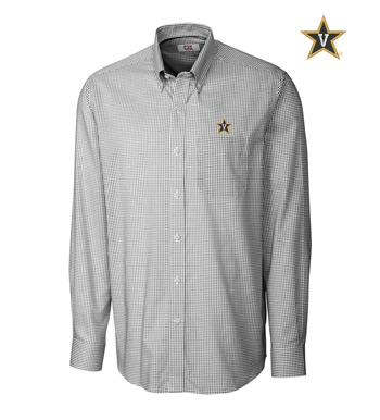 Vanderbilt University Tattersall Long Sleeve Sport Shirt
