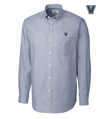 Villanova University Tattersall Long Sleeve Sport Shirt